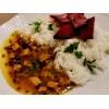 Soté s ryžou a pečenou cviklou