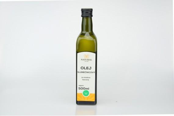 Olej slnečnicový za studena lisovaný - Natural 500ml