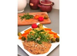 Cirok a la rizoto, červená šošovica so semienkami,